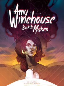 Amy Winehouse // Back To Makes by Guillaume Clarisse // 60x80