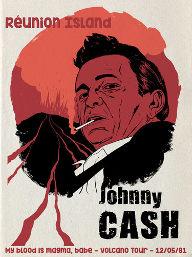 Johnny Cash // Volcano Tour by Sylvain Savoia // Format 60x80cm