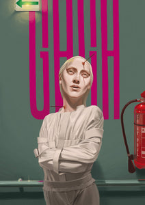 Lady gaga // Hopital Psy de Saint Paul by Abel Techer // 60x80