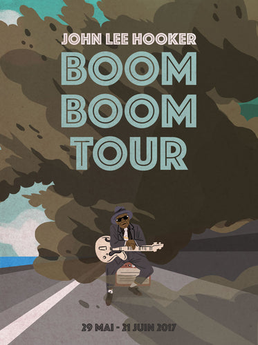 John Lee Hooker // Boom Boom Tour by Stephane Bertaud // Format 60x80cm