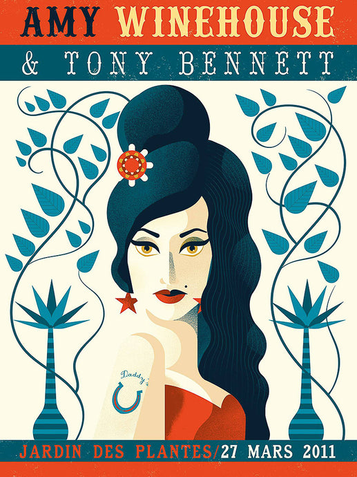 Amy Winehouse & Tony Bennett // by Gwen Keraval // Format 60x80cm