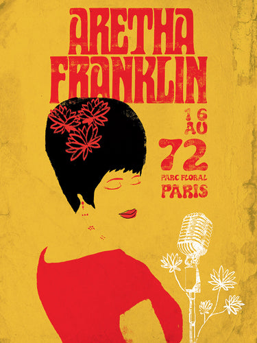 Aretha Franklin // by Hippolyte // Format 60x80
