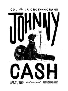 Johnny Cash au Col de la Croix de Morand // by Anthony Martinez // Format 60x80