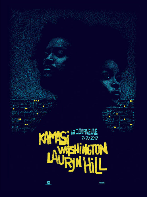 Kamasi Washington & Lauryn Hill // by Hippolyte // Format 60x80