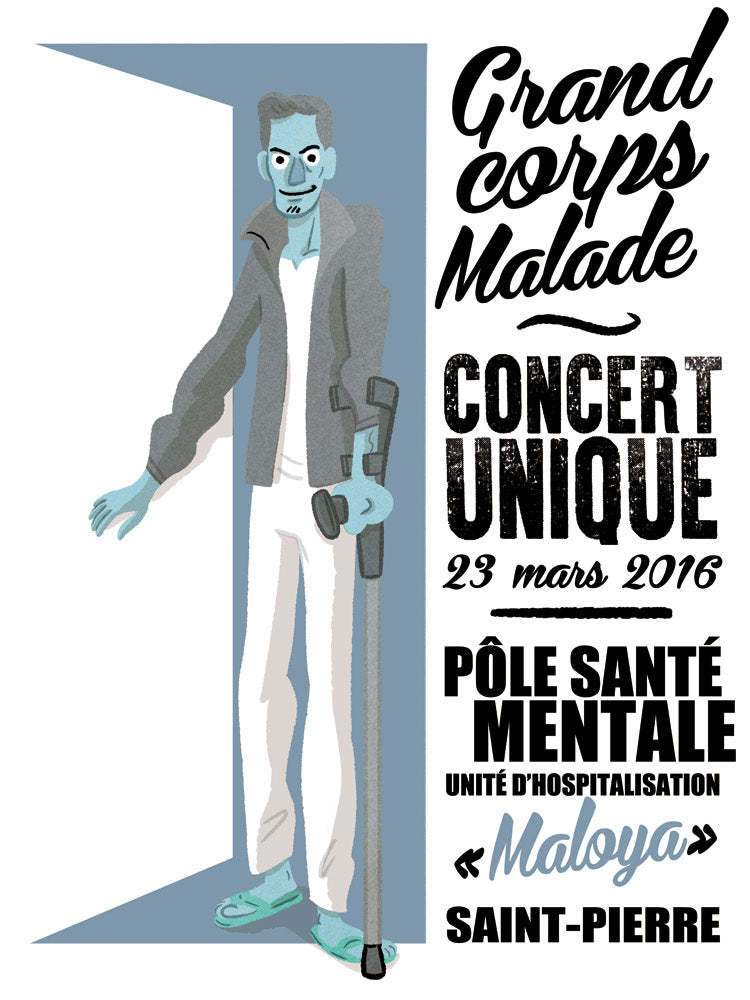 Grand Corps malade // Unité Psy Maloya by Stephane Bertaud // 60x80
