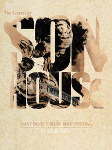 Son House // Saint Denis Blues Festival by Christophe Chabouté // Format 60x80cm