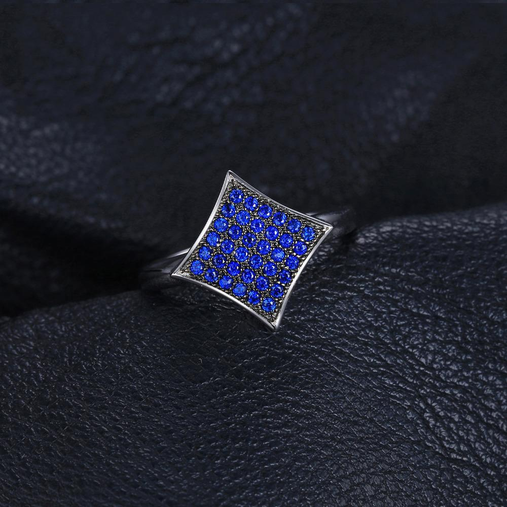 0.35ct Created Blue Spinel Ring S925 Sterling Silver-Solid Charm