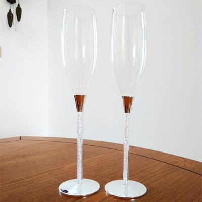 1 pair wedding champagne glasses 5 styles-Solid Charm