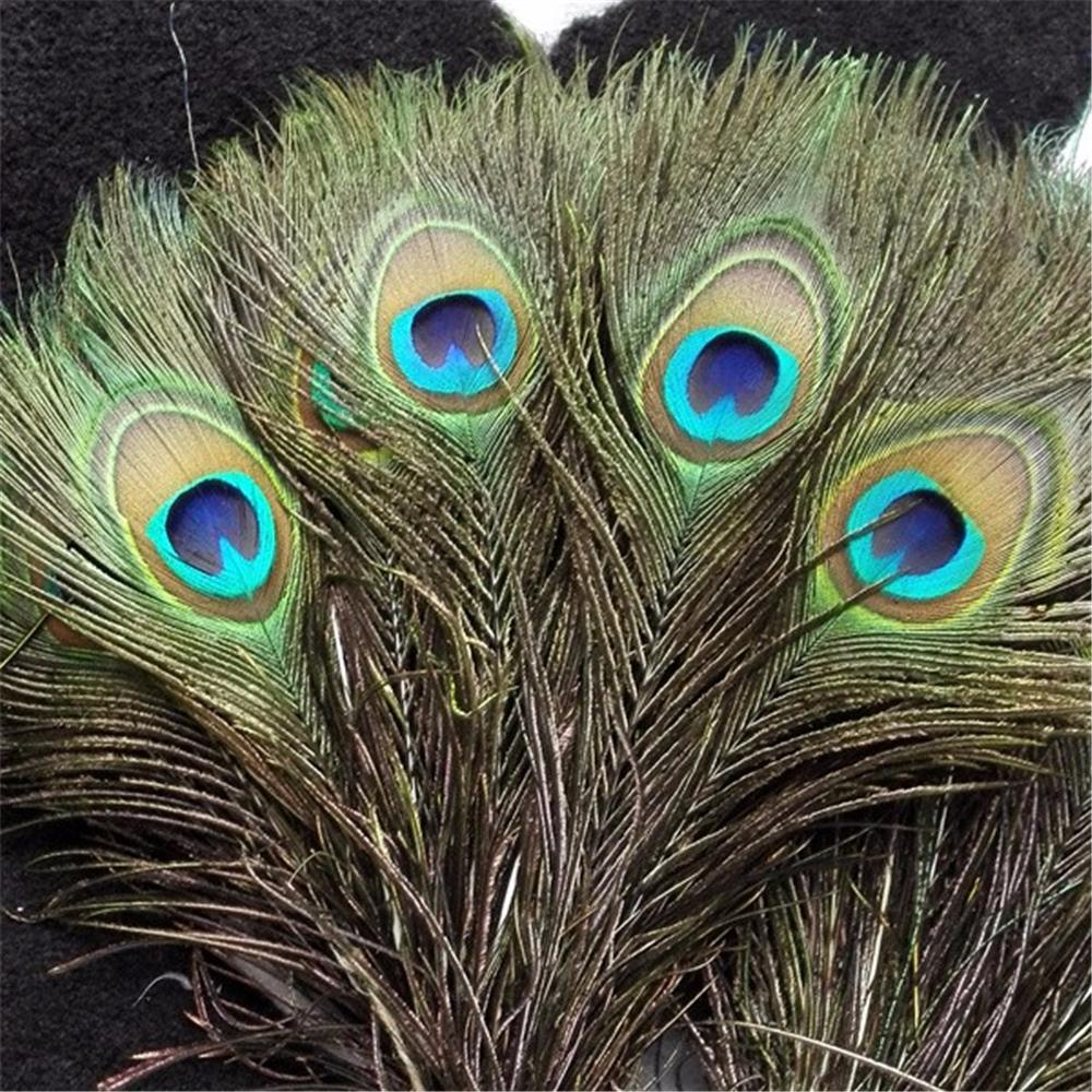 "10-12""(25-30cm) 100pcs natural peacock feather-Solid Charm"