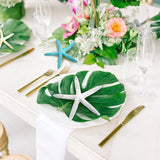 12pcs 35x29cm Artificial Palm Leaf Hawaiian Table Place mats