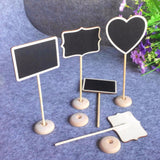 12Pcs/lot  Mini Chalkboard for table numbers 3 styles