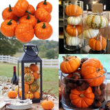 16pcs/Pack Mini Foam Pumpkin For Table Decor Vase Filler DIY Centerpieces