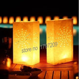 20 Pcs Heart Tea Light Holder Luminaria Paper Lantern Candle Bag