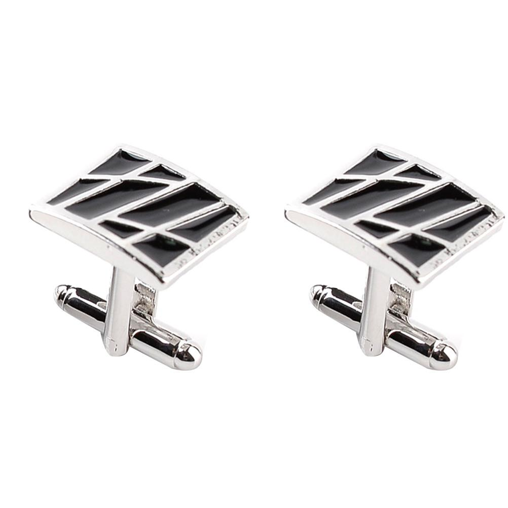 2pcs Men Square Cufflinks-Solid Charm