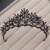 Baroque Bronze Black Red Crystal Bridal Tiaras