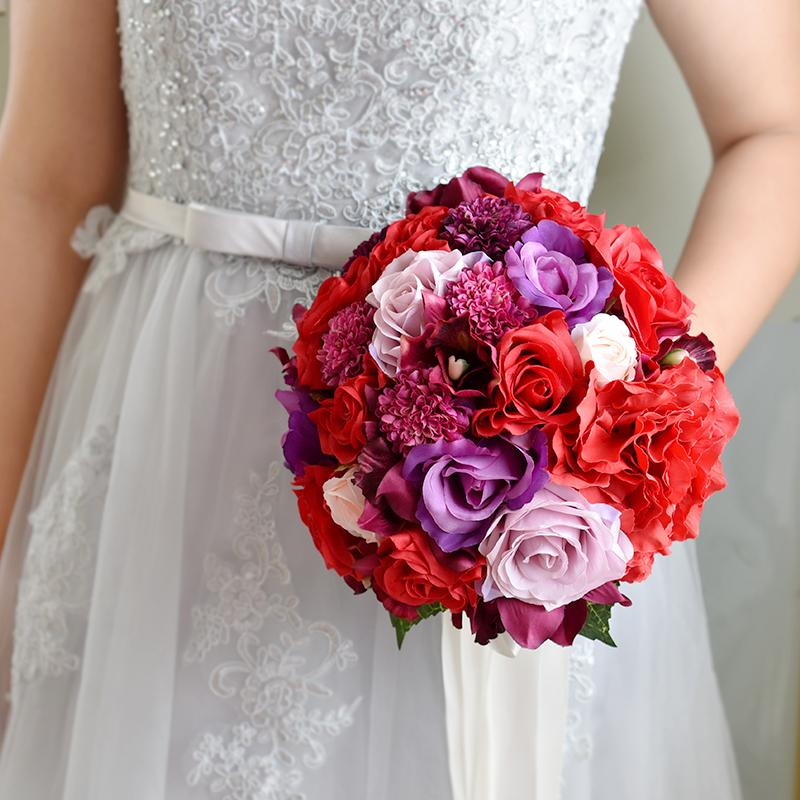 Red Roses Wedding Bouquets.Bouquet Red Rose Hydrangea Wedding Bouquet