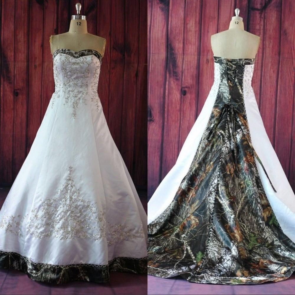 Camouflage Wedding Dresses.Camo Wedding Dresses Strapless Lace Up Camouflage