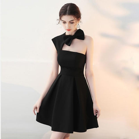 474b71c98f Celebrity Inspired Dress One-Shoulder Bow