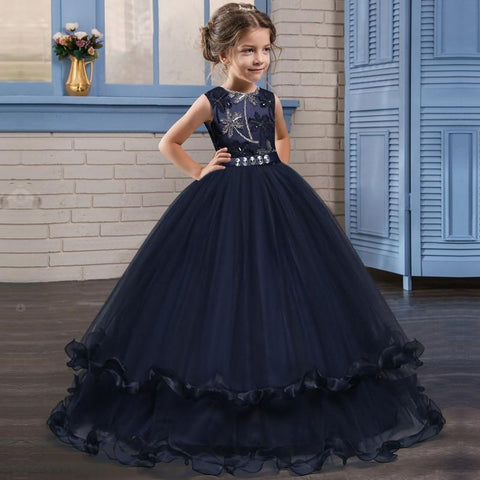 80c5675af4 Embroidery Layered Ball Gown Flower Girl Dress 2 Colors