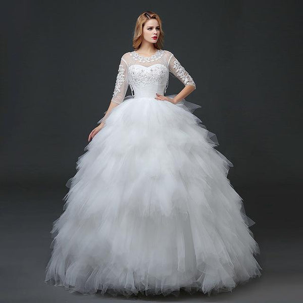 Feather Wedding Dress Back Cut Out