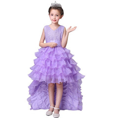 5e7cc0383d Flower Girl Dress with Train and Ruffles Multiple Colors ...
