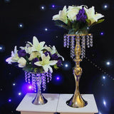 gold silver wedding table centerpieces flower vase