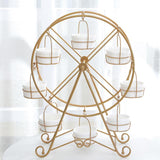 Golden/White Metal Ferris Wheel Cupcake Rack