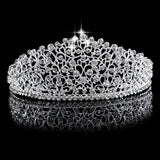 Gorgeous Sparkling Silver Big Wedding Tiara