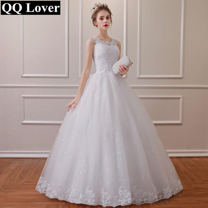 Lace Simple Wedding Dress Lace Up Plus Sizes Available
