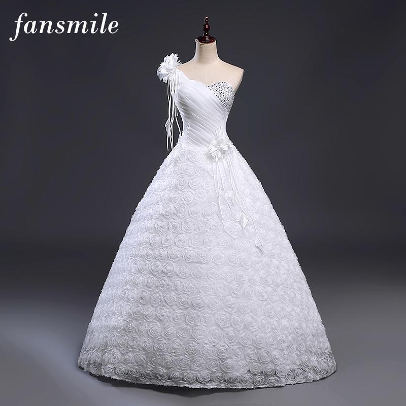 One Shoulder Beautiful and Unique Wedding Dress Ball Gown/ Princess Style  Plus Size Available