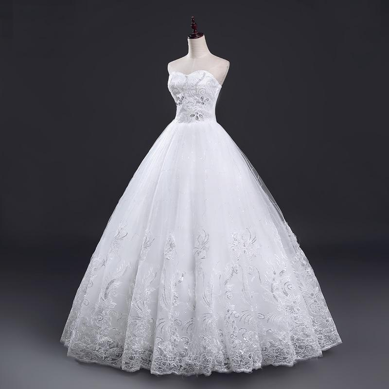 765098a6f1 Princess Style Wedding Gown With Sparkle. Sweetheart Lace