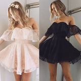 Formal Lace Dress Summer Prom Off Shoulder Party