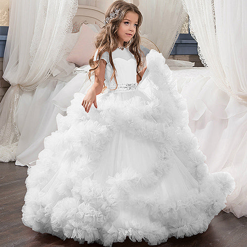 puffy white puffy wedding dresses for kids