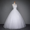 Lace Up Ball Gown Quality Wedding Dress
