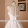 V-neck Bridal Ball Gowns Sleeveless Lace Appliques