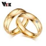 Gold-Color Stainless Steel Ring