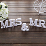 Wedding Decoration Table Centerpieces Mr and Mrs Decorative Centerpiece Wooden Words In Wood