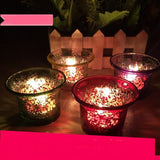 Weddings Candles Holders Colorful Glass Holder  Wedding Centerpieces