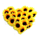 Wholesale 20pcs 7cm Sunflower Artificial Silk Flowers Heads