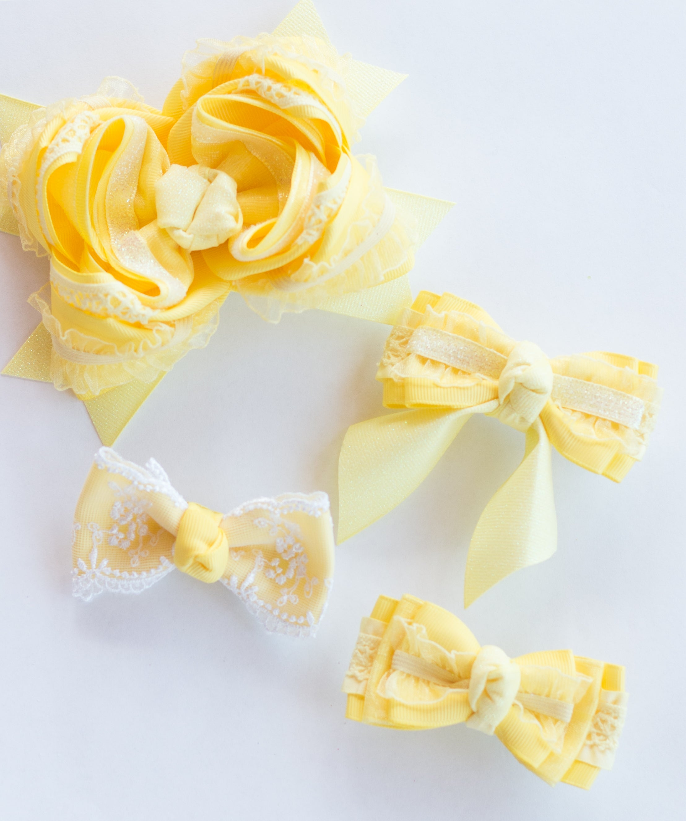 M2M LEMON Bow for {Lemon} Peplum & Button Shorties