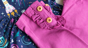 {Fuchsia} Button Leggings