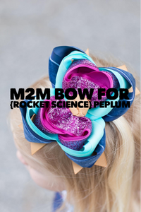 M2M bow for {Rocket Science} Peplum