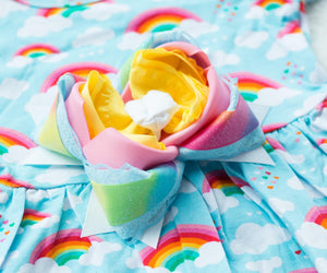 Made to Match Bow for Over the Rainbow Peplum