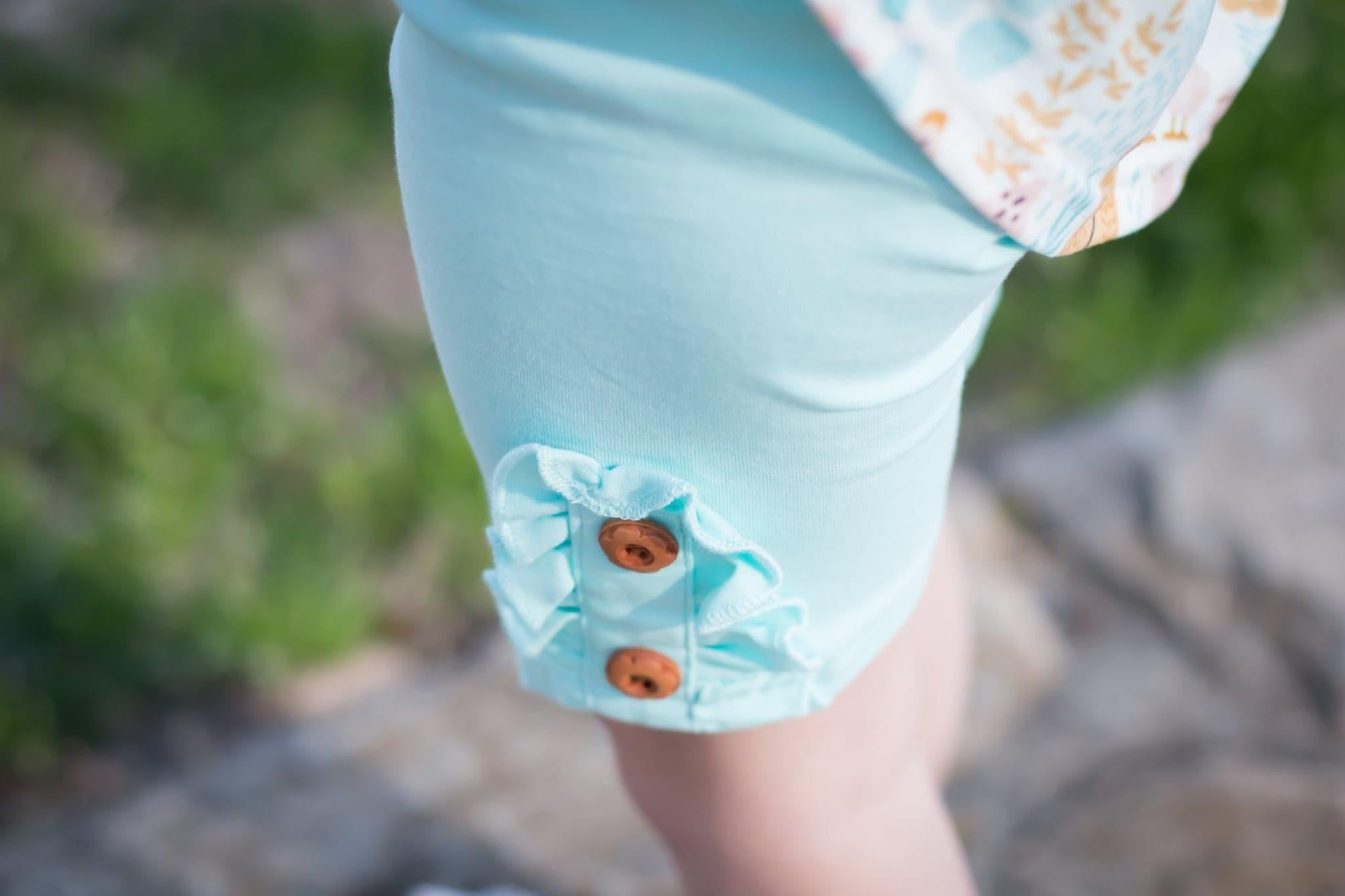 Ice Blue button shorties