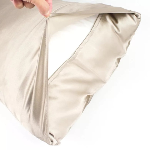 Champagne Satin Pillow Case