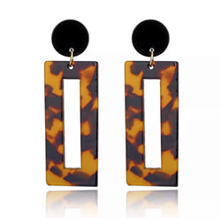 Acrylic Tortoise Shell Earrings