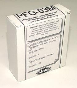 Holography Film Plates PFG-03 pk of 6