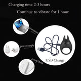 Penis Clitoris Ring Vibrator for Men Rings Cock AND Vibrator for Woman