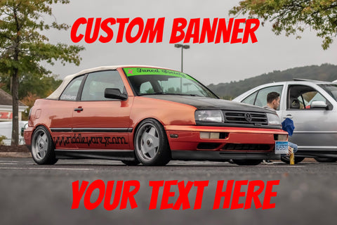 Medium Custom Sticker Banner,  - Riddle Wares