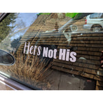 Hers Not His Decal,  - Riddle Wares